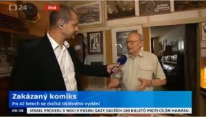 Miloš Polášek, rozhovor pro Studio 6, ČT 24